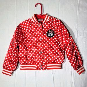 Disney Minnie Mouse button up Jacket Red polka dot